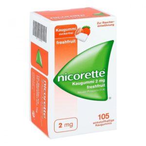 Nicorette 2 mg freshfruit nikotinkaugummi test