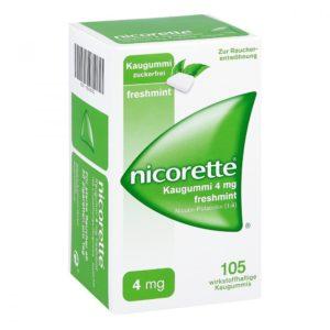 Nicorette 4 mg freshmint nikotinkaugummi test mit 4mg